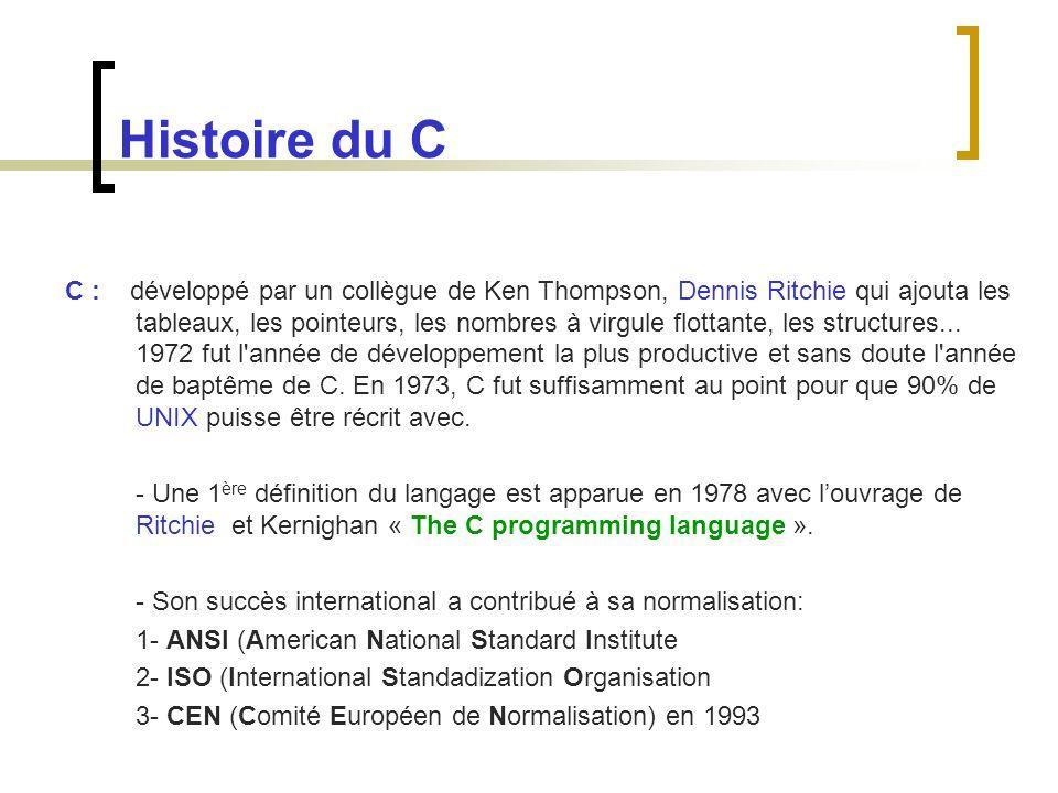 Histoire du C