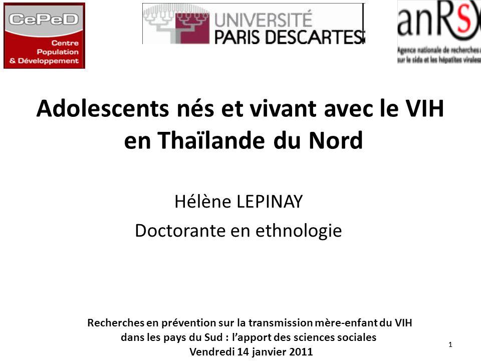 Adolescents nés et vivant avec le VIH en Thaïlande du Nord