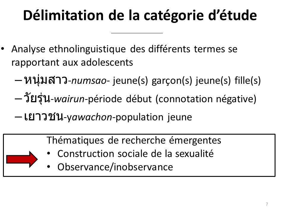 Délimitation de la catégorie d'étude