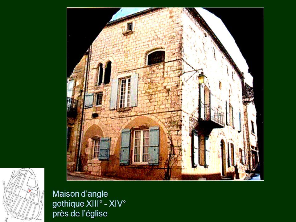 Maison d'angle gothique XIII° - XIV° près de l'église