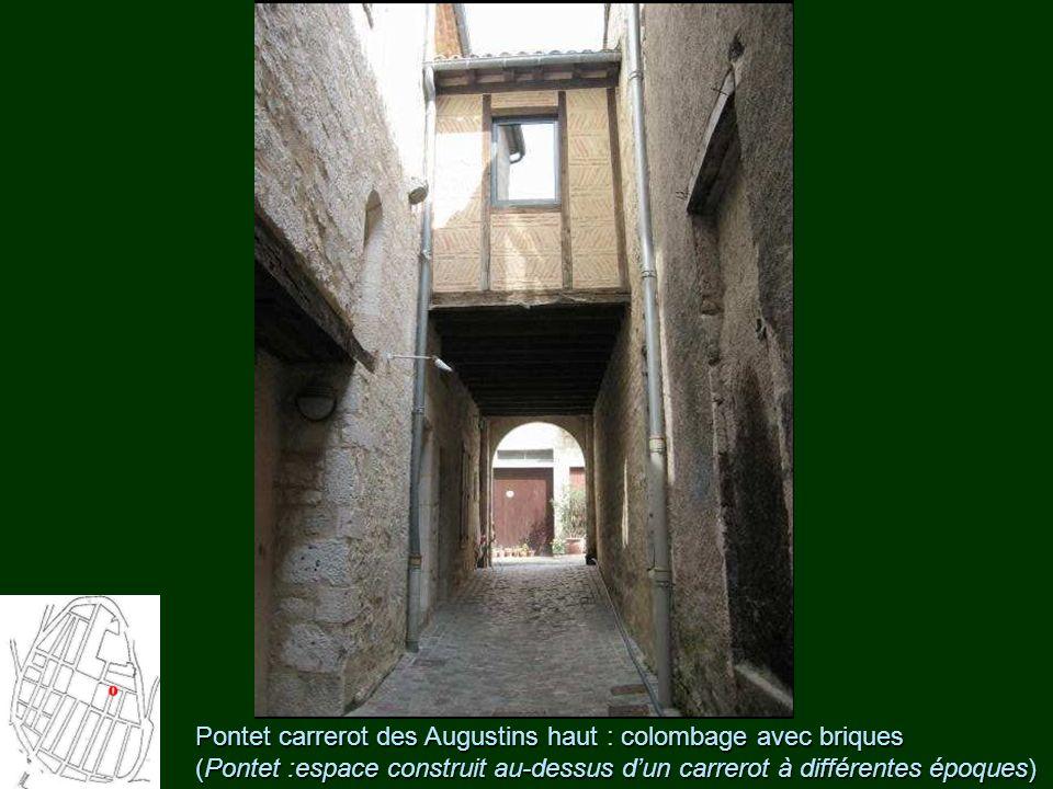 Pontet carrerot des Augustins haut : colombage avec briques