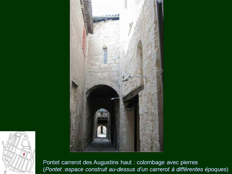 Pontet carrerot des Augustins haut : colombage avec pierres