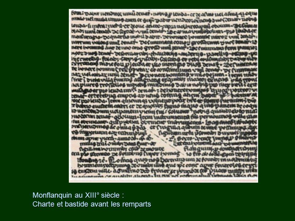 Monflanquin au XIII° siècle :