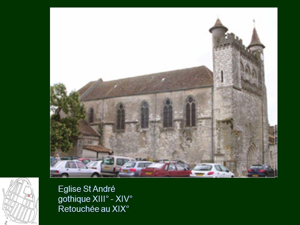 Eglise St André gothique XIII° - XIV° Retouchée au XIX°