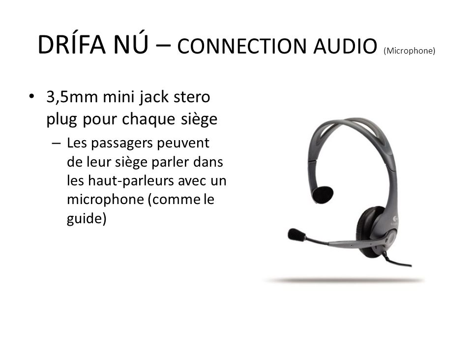 DRÍFA NÚ – CONNECTION AUDIO (Microphone)