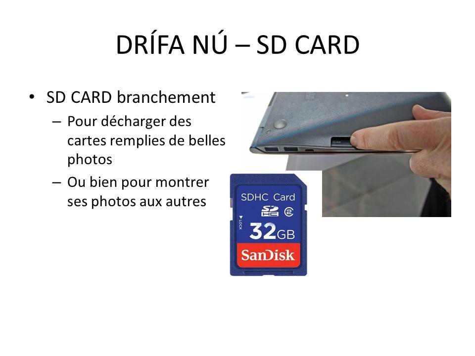 DRÍFA NÚ – SD CARD SD CARD branchement