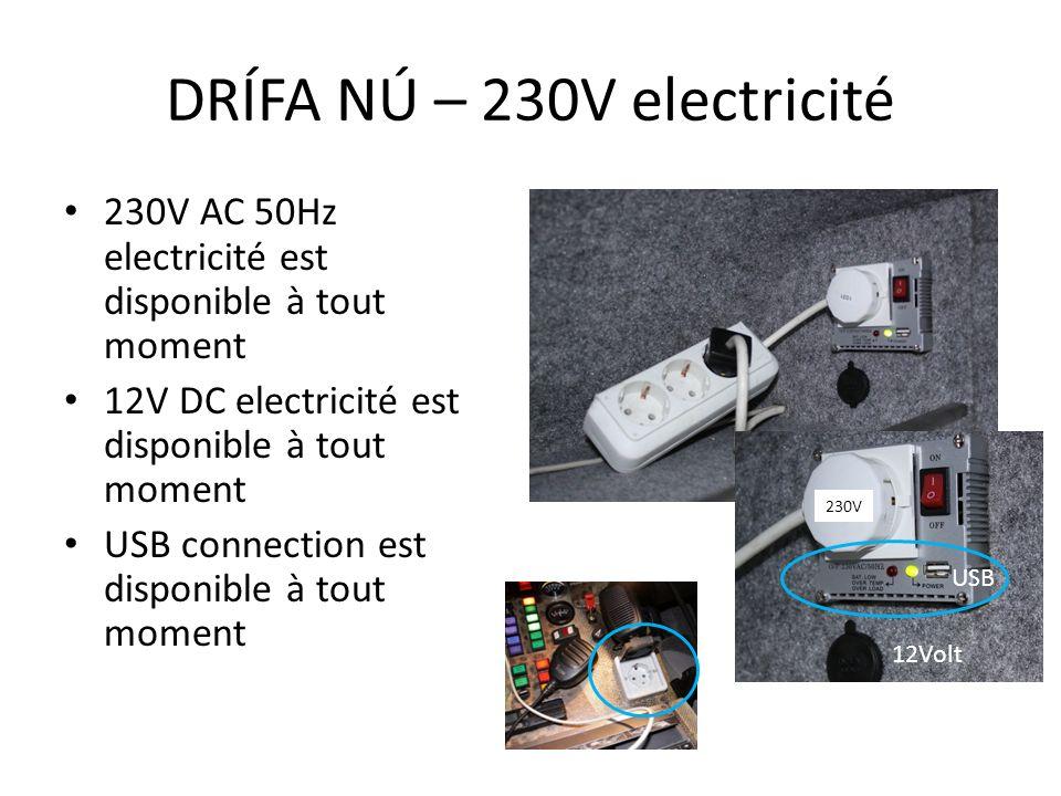 DRÍFA NÚ – 230V electricité