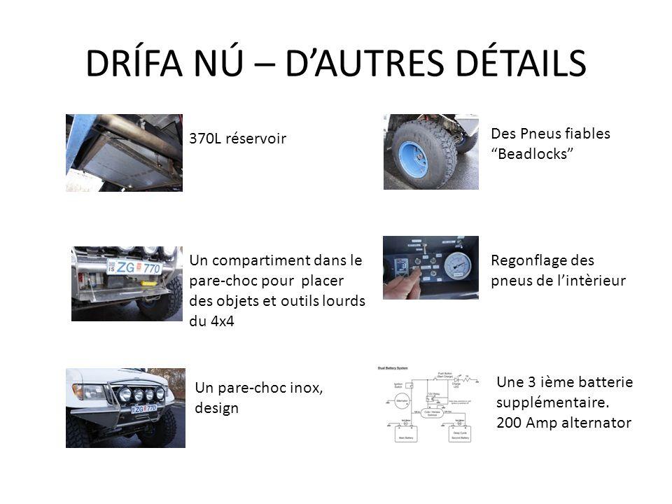 DRÍFA NÚ – D'AUTRES DÉTAILS