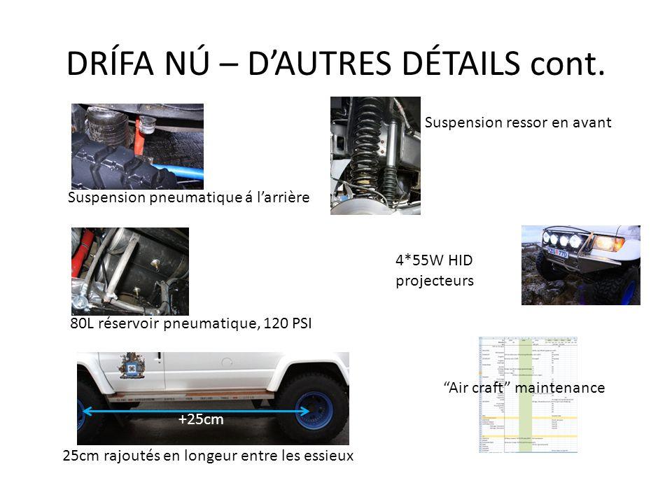 DRÍFA NÚ – D'AUTRES DÉTAILS cont.