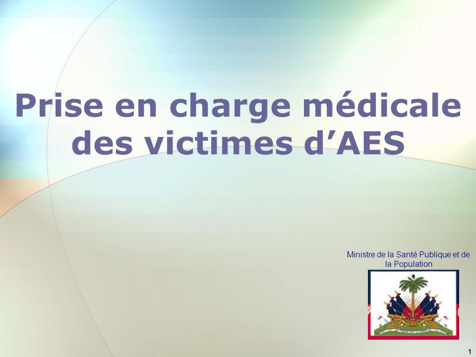 Prise en charge médicale des victimes d'AES