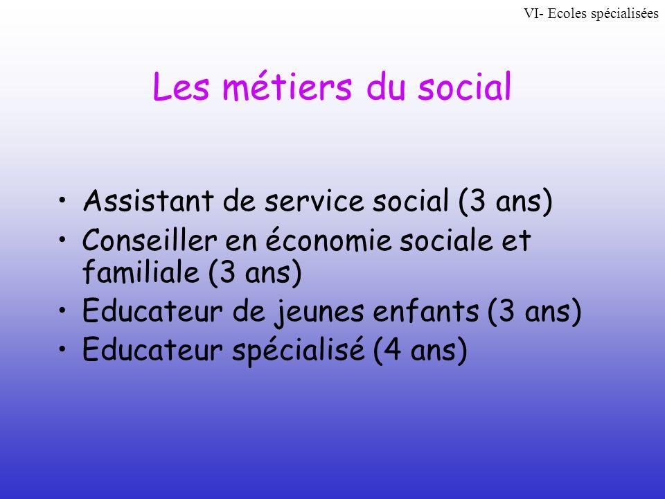 Les métiers du social Assistant de service social (3 ans)