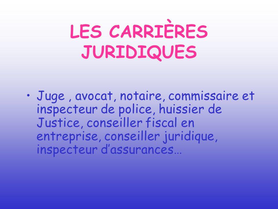 LES CARRIÈRES JURIDIQUES