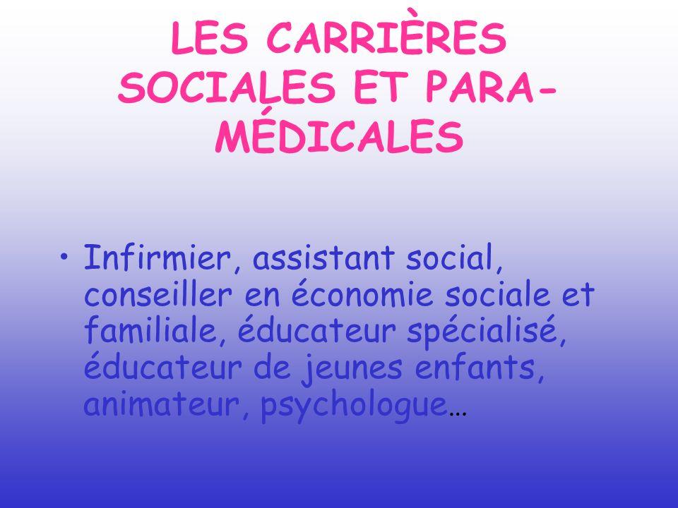 LES CARRIÈRES SOCIALES ET PARA-MÉDICALES