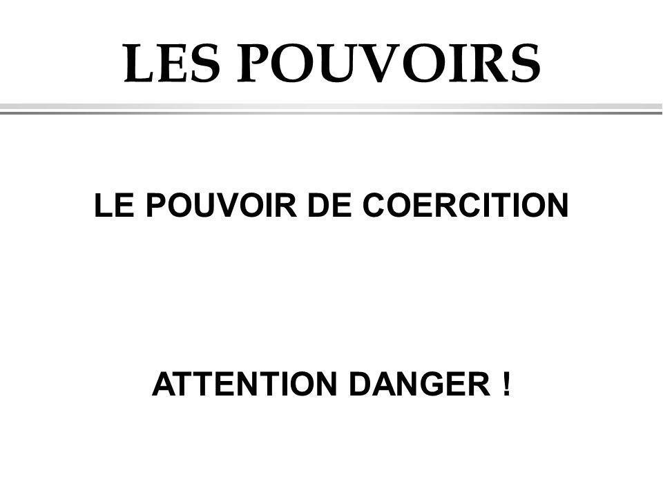 LE POUVOIR DE COERCITION