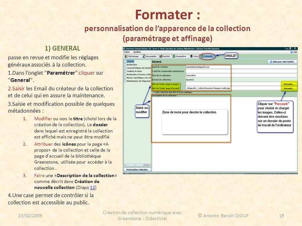 Création de collection numérique avec Greenstone : Didacticiel