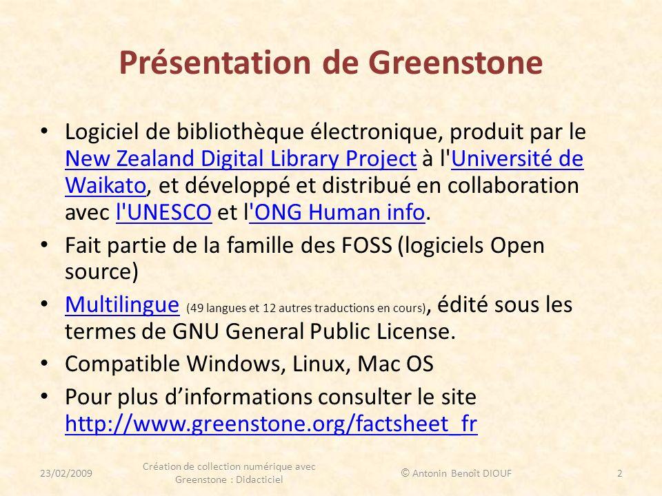 Présentation de Greenstone