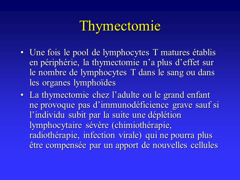 Thymectomie