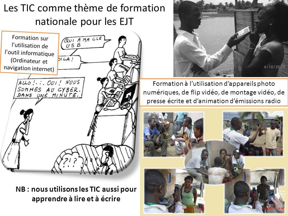 Les TIC comme thème de formation nationale pour les EJT