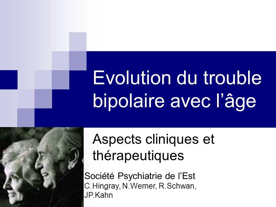 Evolution du trouble bipolaire avec l'âge