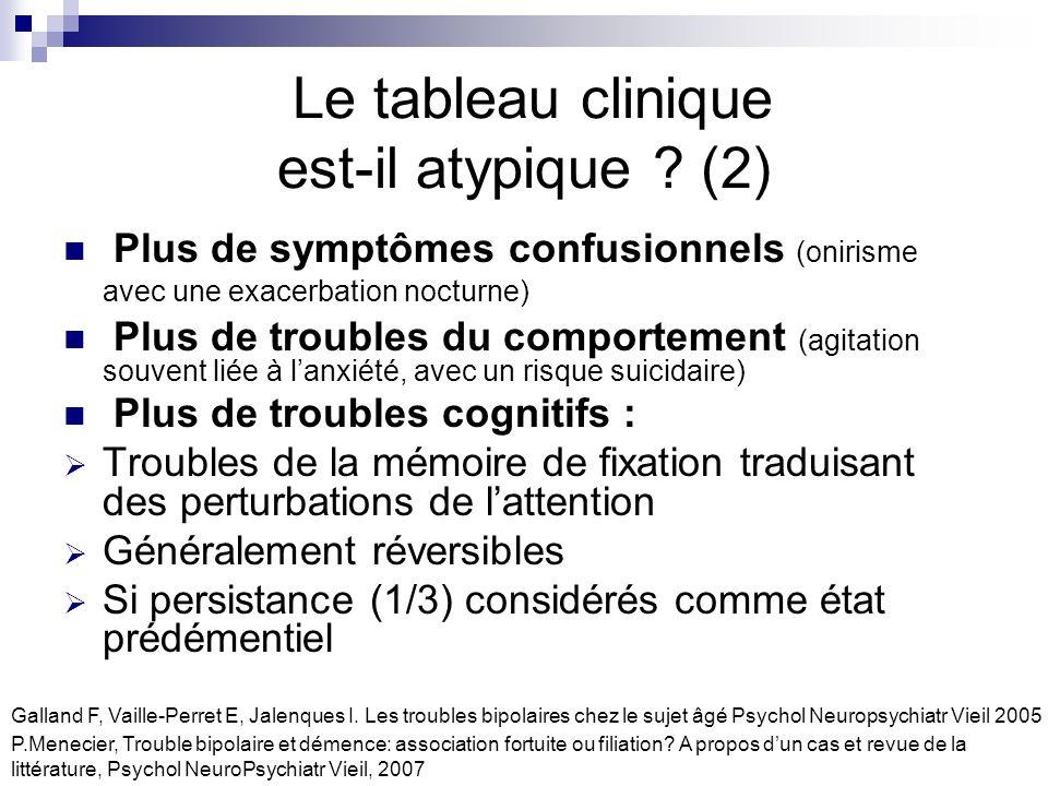 Le tableau clinique est-il atypique (2)