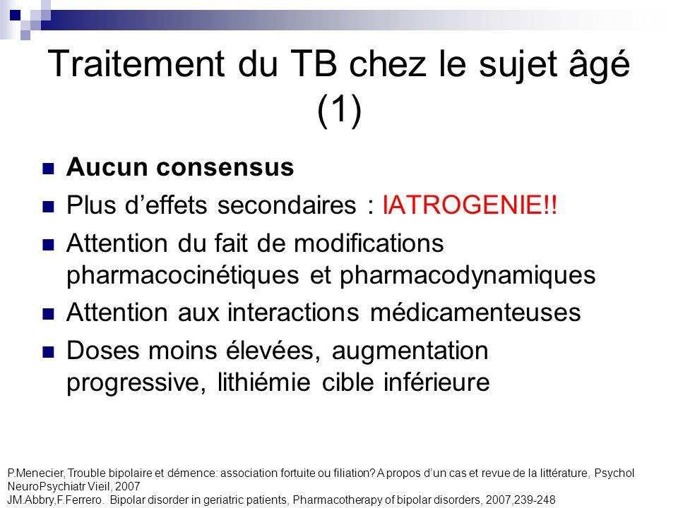 Traitement du TB chez le sujet âgé (1)