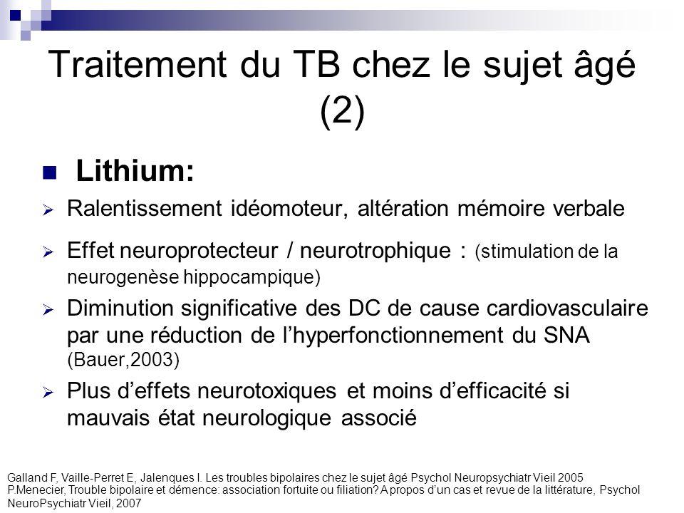 Traitement du TB chez le sujet âgé (2)