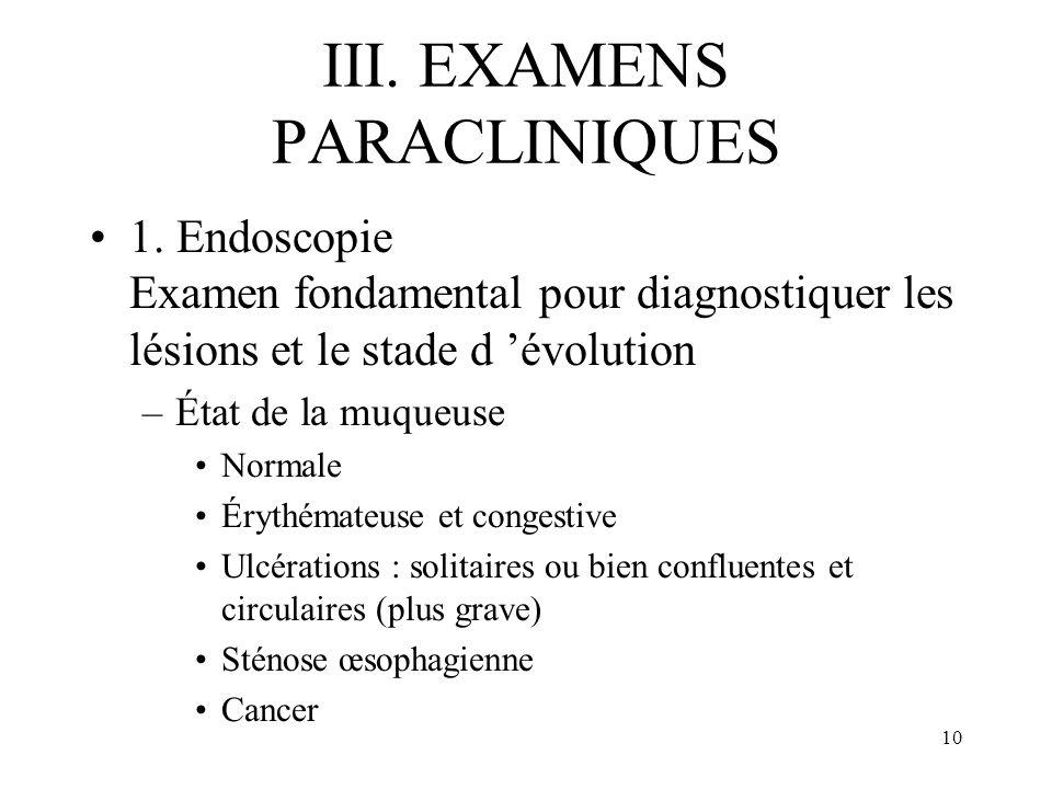 III. EXAMENS PARACLINIQUES