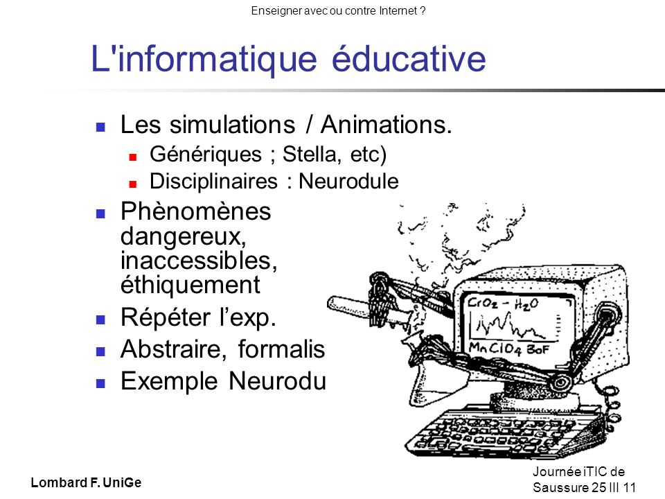 L informatique éducative