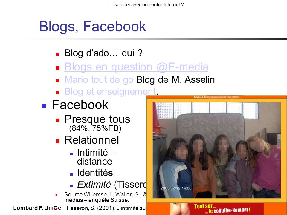 Blogs, Facebook Facebook Blogs en question @E-media