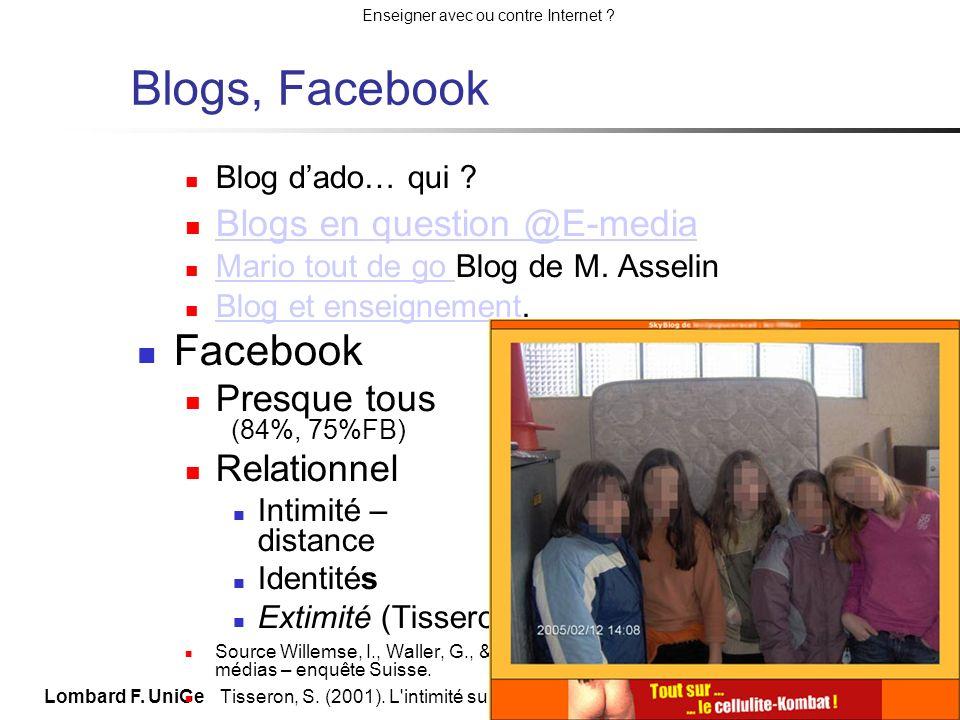 Blogs, Facebook Facebook Blogs en question @E-media