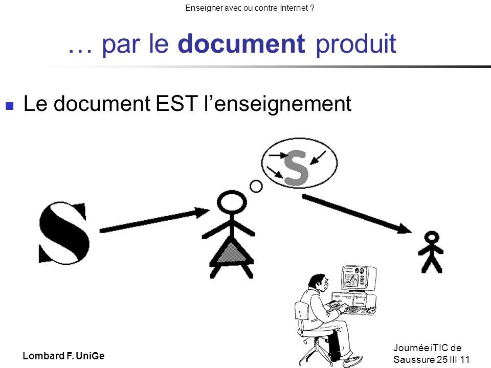 … par le document produit