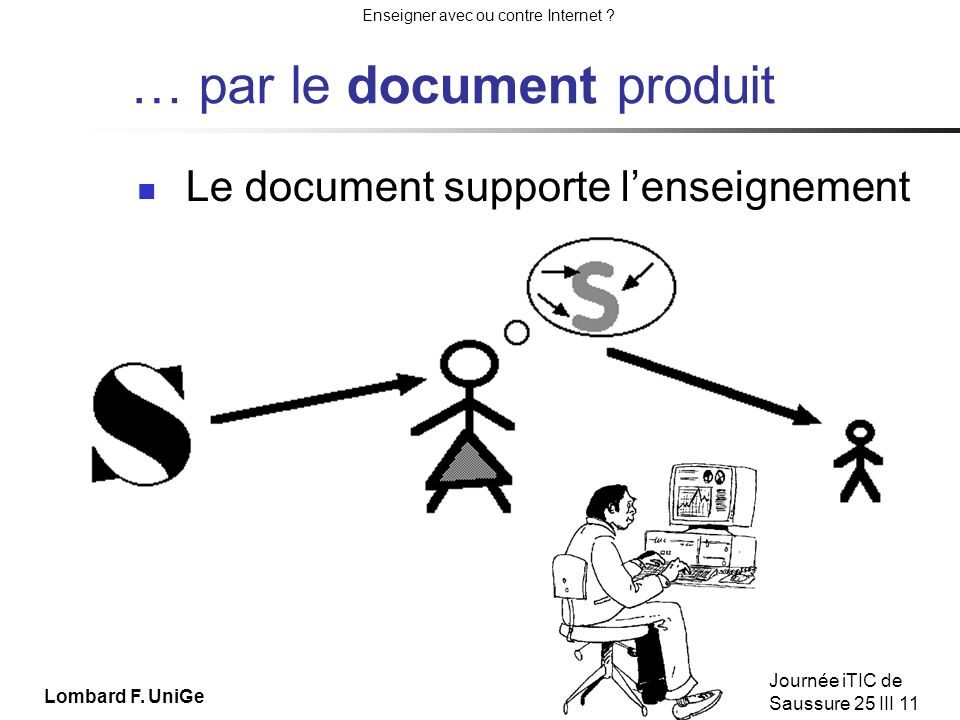 … par le document produit