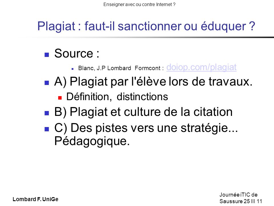 Plagiat : faut-il sanctionner ou éduquer