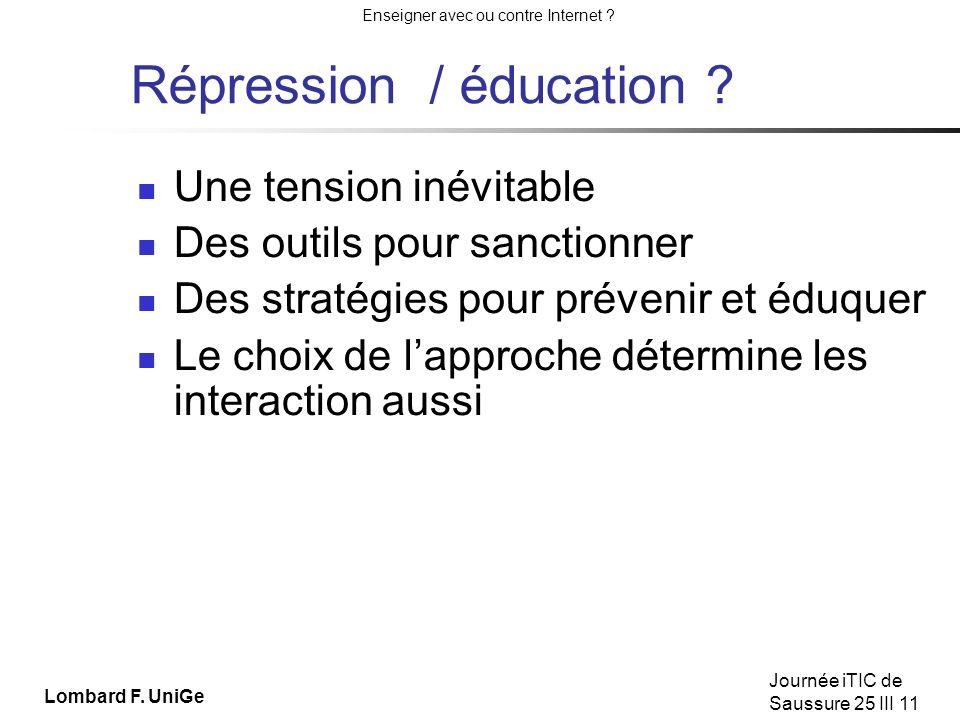 Répression / éducation