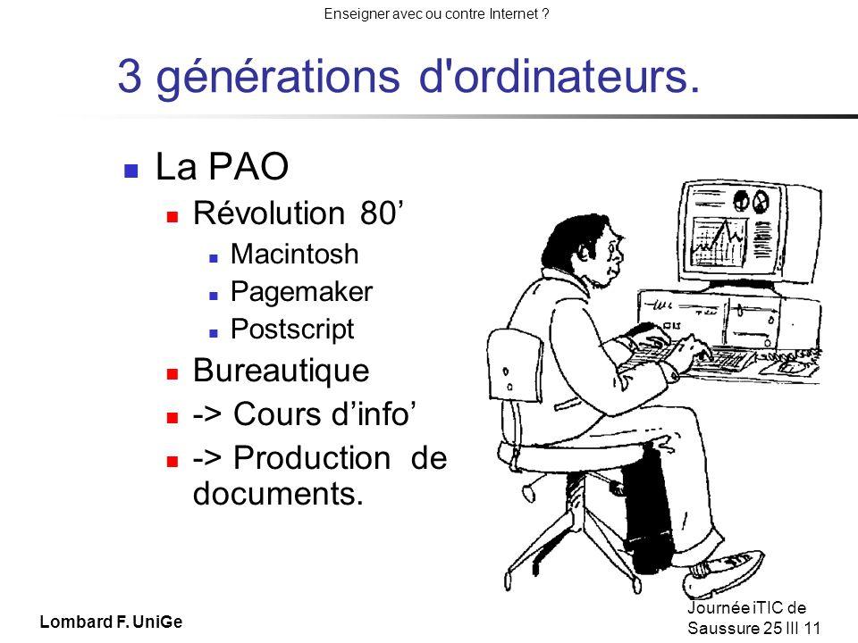 3 générations d ordinateurs.