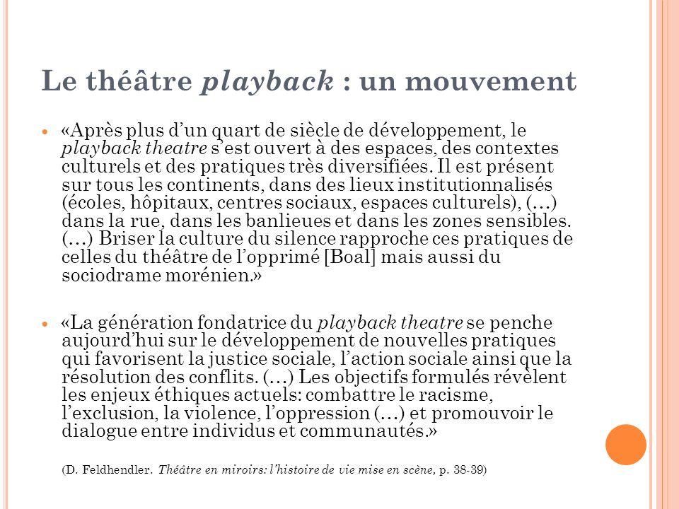 Le théâtre playback : un mouvement