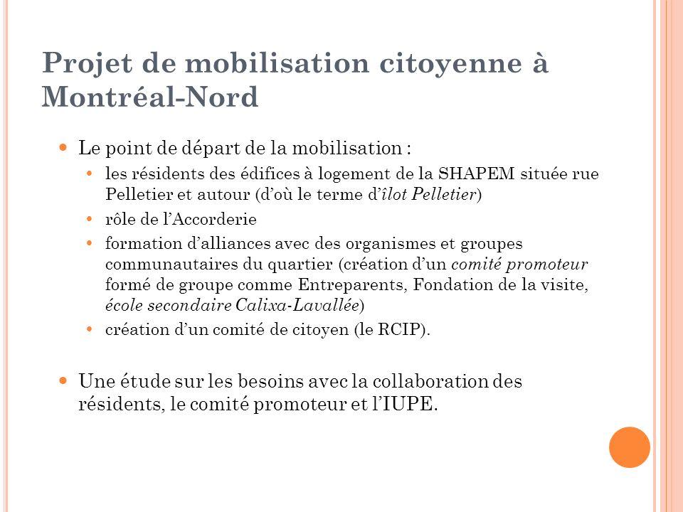 Projet de mobilisation citoyenne à Montréal-Nord