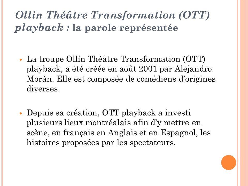 Ollin Théâtre Transformation (OTT) playback : la parole représentée