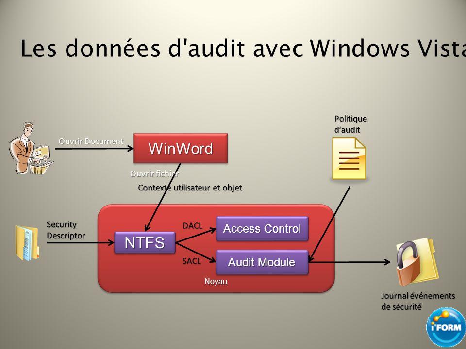 Les données d audit avec Windows Vista