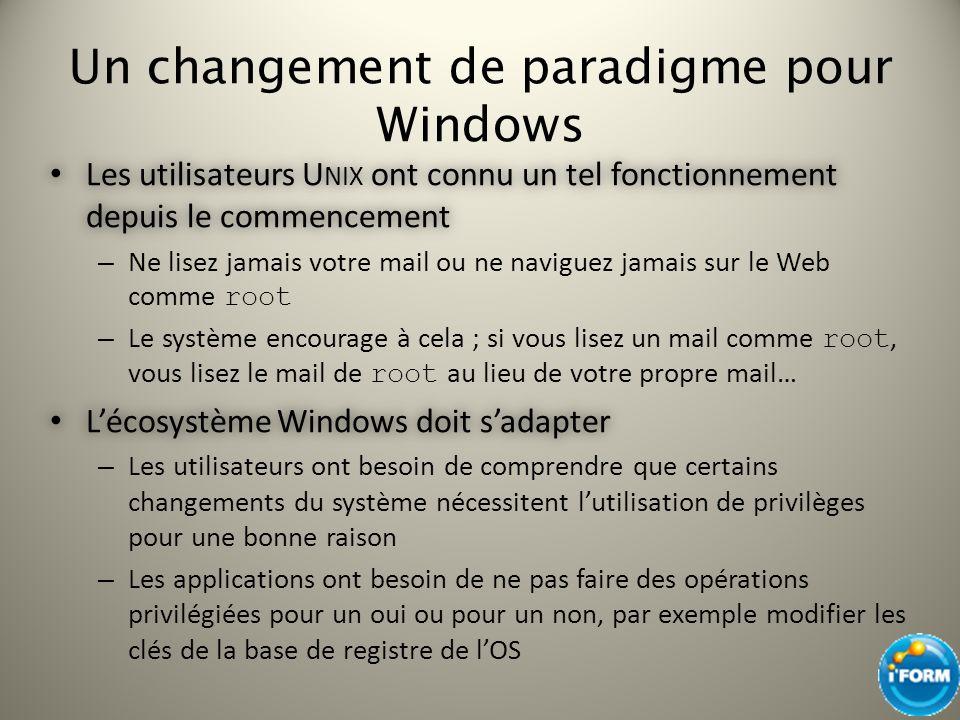 Un changement de paradigme pour Windows
