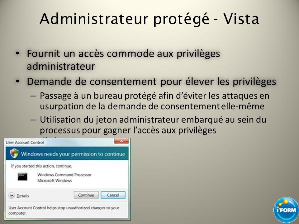 Administrateur protégé - Vista