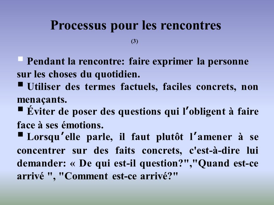 Processus pour les rencontres (3)