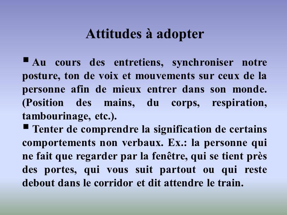 Attitudes à adopter