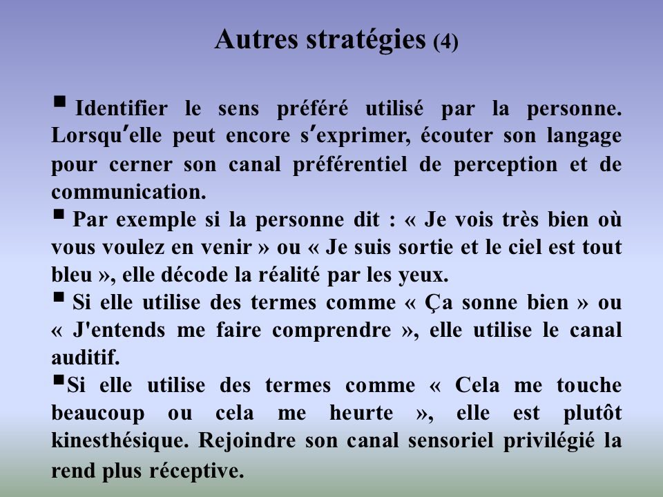 Autres stratégies (4)
