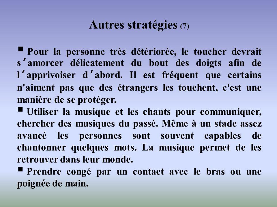 Autres stratégies (7)