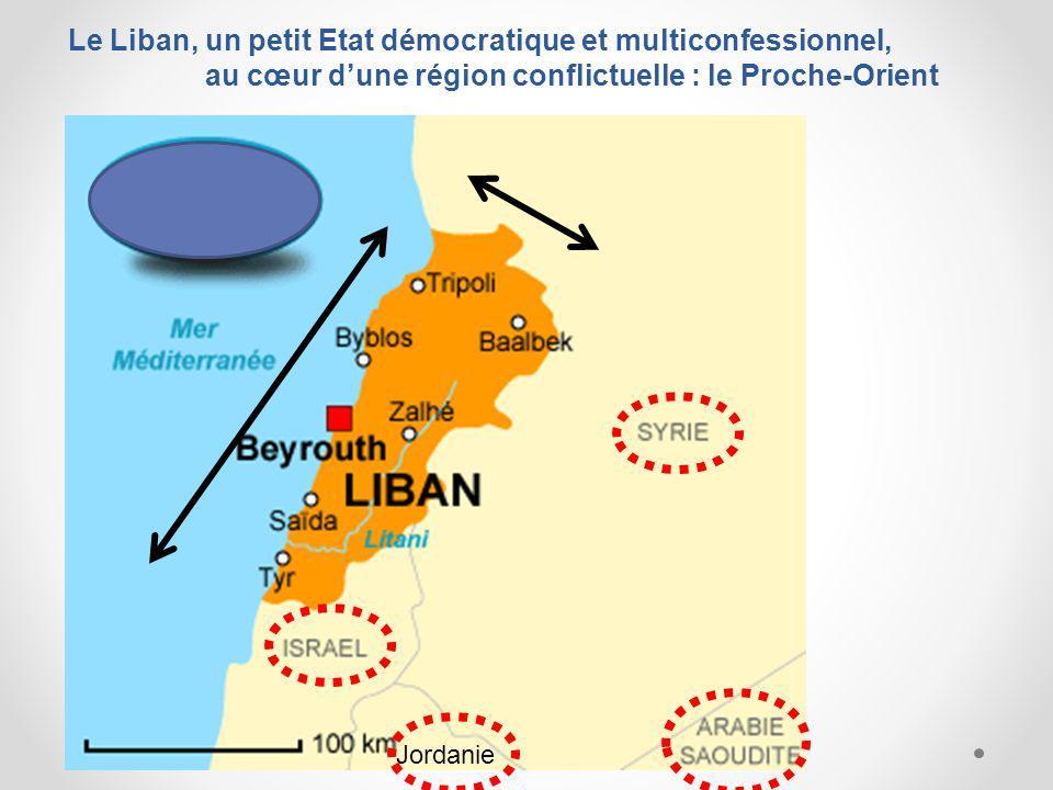 Le Liban, un petit Etat démocratique et multiconfessionnel, au cœur d'une région conflictuelle : le Proche-Orient
