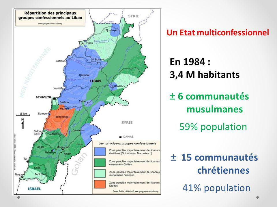 ± 6 communautés musulmanes 59% population