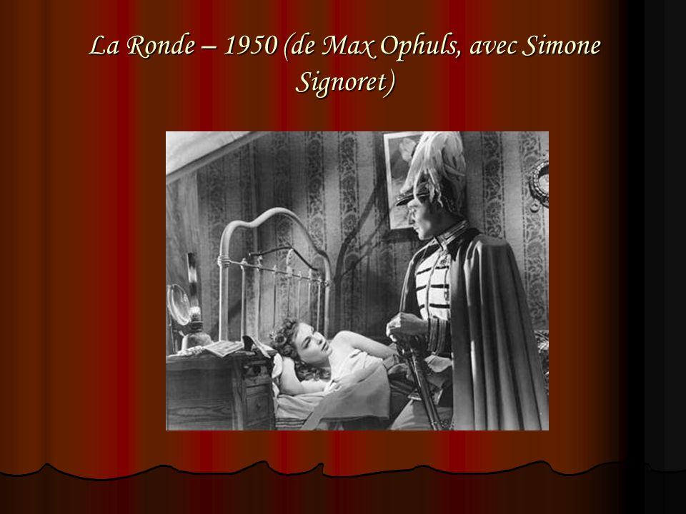 La Ronde – 1950 (de Max Ophuls, avec Simone Signoret)