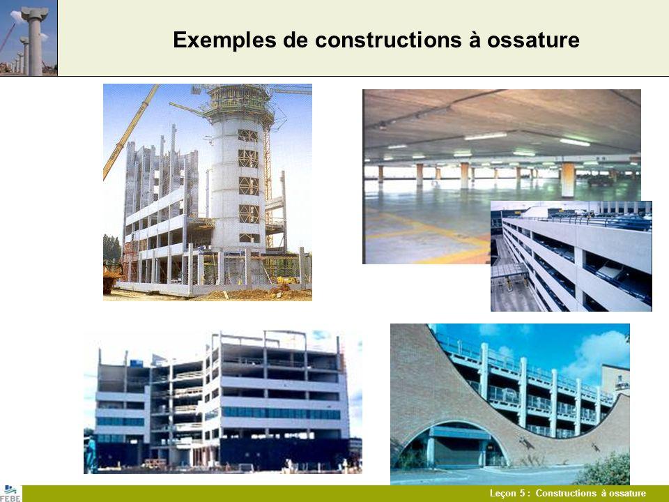 Exemples de constructions à ossature