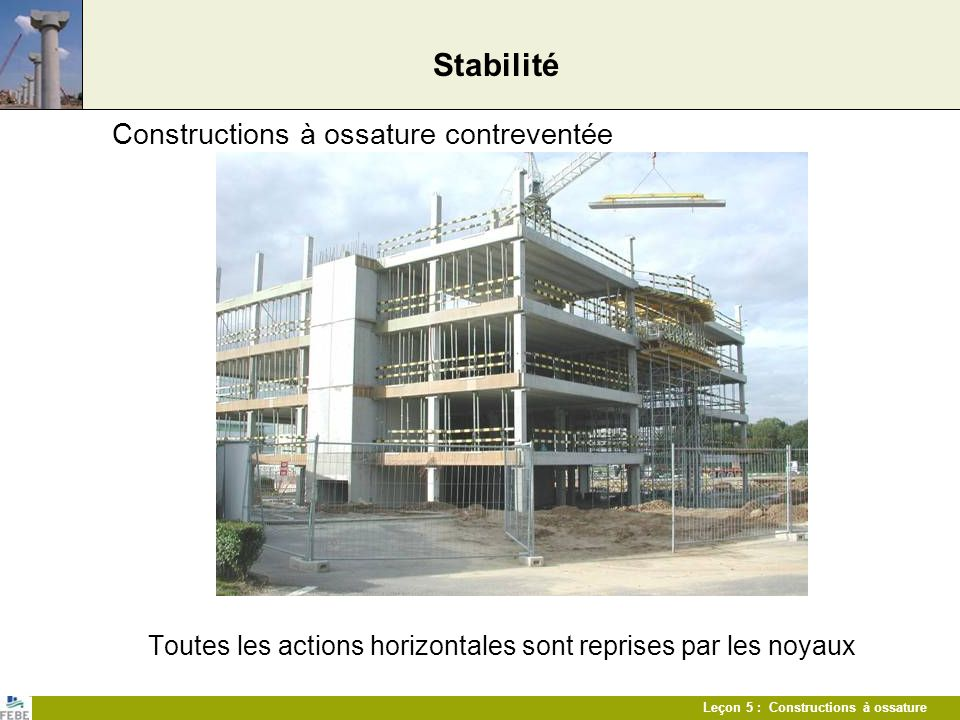 Stabilité Constructions à ossature contreventée